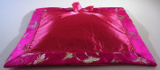 Hot Pink Butterfly Brocade Baby Pillow