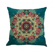 Fullkang Multicolor Geometry Painting Linen Cushion Cover Pillow Case