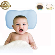 Baby Pillow-Anti-Flat Head Syndrome,Soft Organic Cotton Butterfly Shape,Washable Infant Pillow,Used in Bed,Stroller,and Baby Car Seat, for All Seasons.