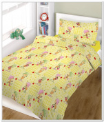 "BlueberryShop 2 pcs BABY COT BED BUNDLE BEDDING SET DUVET+PILLOW COVERS matching cot bed 120 x 150 cm (47"" x 59"") ( 0-7Yrs ) ( 150 x 120 cm ) Cream Ant"