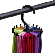 Singleluci Rotating Tie Rack Tie Hanger Neck Ties Organiser for Men