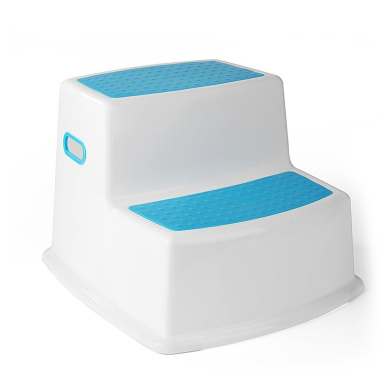 ACKO Children Non Slip Two Levels Step Stool Toddler Stool for Potty Training and Use in the Bathroom or Kitchen Blue Colour Sturdy Plastic