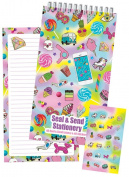 iscream 'Funky Flair' Seal and Send 40 Sheet Stationery Pad with Sticker Seals