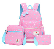 Fanci 3Pcs Teenager Girls Bowknot Kids Backpack Primary School Book bag