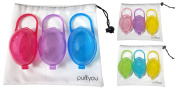 purifyou PurePouch BPA-Free Nipple Shield Case & Pacifier Case, Set of 3, With Free Mesh Sack by purifyou