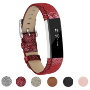 For Fitbit Alta HR and Alta Band With Metal Clasp, Premium Soft Genuine Leather Wristband Strap Replacement Watch Band for Fitbit Alta/Fitbit Alta HR 2017/Alta HR Smart Fitness Tracker