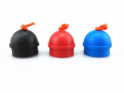 Honbay 3pcs Mix Colour Rubber Pool Table Billiard Cue Chalk Holders with String