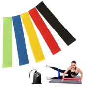 Future Exercise Resistance Loop Bands - Set of 5 Workout Bands With Handy Carry Bag Fit Simplify Resistance