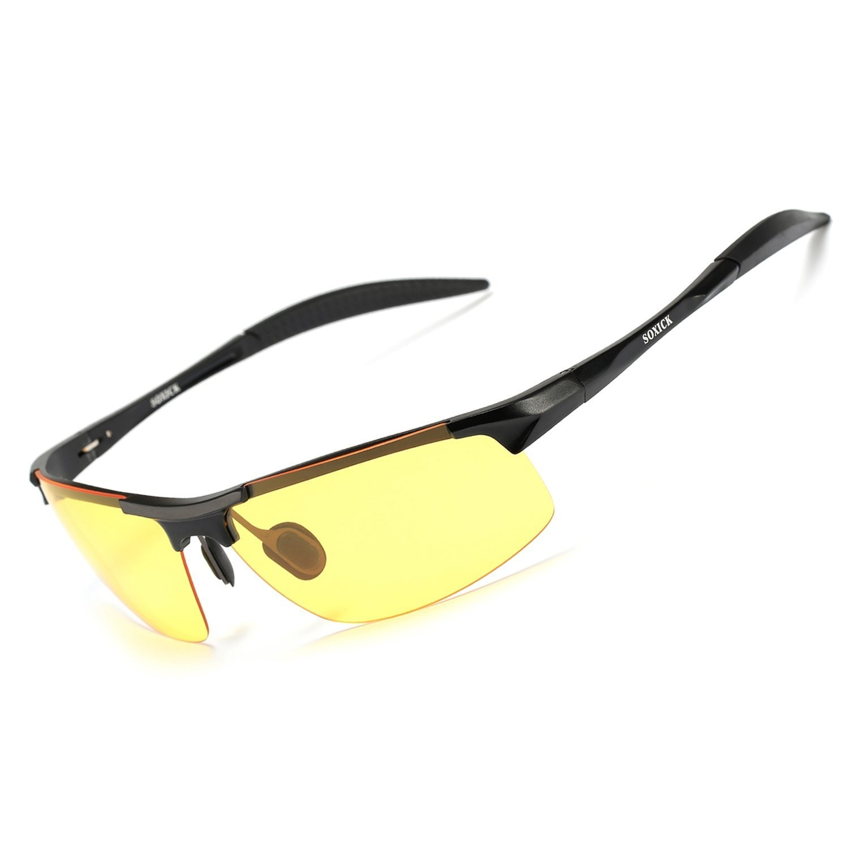 0588c8187c SOXICK HD Polarised Night Driving Glasses Anti Glare Safety Glasses ...