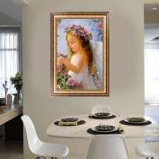 NNDA CO Cute 5D Angel Girl Diamond Painting DIY Embroidery Cross Stitch Kit Home Decor ,1Set