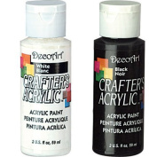 Crafter's Acrylic Paint - Black and White