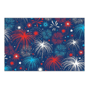 3 Pcs 4th of July PATRIOTIC Party Decoration FIREWORKS BACKDROP Photo Prop