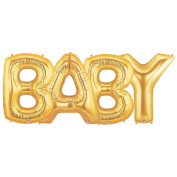 BABY Alphabet Word Balloons - Gold Foil Celebration Letters 100cm