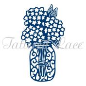 Tattered Lace Hydrangea Jar Cutting Die D1428