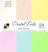 "DCWV Printed Stack 15cm X6"" Double-Sided Foil Pastels"