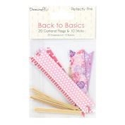 Dovecraft Back to Basics Perfectly Pink - Card Craft Decorative Garland Flags