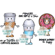 La-La Land Cling Stamps 11cm x 8.9cm -Coffee Buddies