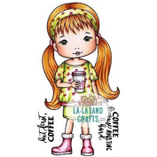 La-La Land Cling Stamps 11cm x 8.9cm -Molli With Coffee