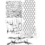 49 & Market Clear Stamps 10cm x 15cm -Gabi's Crackle Texture