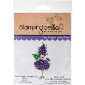 Stamping Bella Cling Stamp 17cm x 11cm -Tiny Towney Garden Girl Lilac