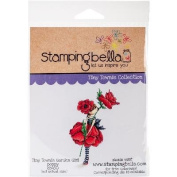 Stamping Bella Cling Stamp 17cm x 11cm -Tiny Townie Garden Girl Poppy