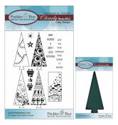 Prickley Pear Christmas Tree Clear Stamp and Die Set - CLR009 PPRS-D009 - Bundle 2 Items