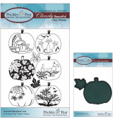 Prickley Pear Pumpkin Patch Set # 2 Clear Stamp and Die Set - CLR008A PPRS-D008 - Bundle 2 Items
