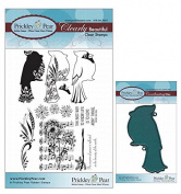 Prickley Pear Cardinals Clear Stamp and Die Set # 1 - CLR005 & PPRS-D005 - Bundle 2 Items
