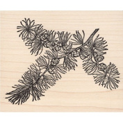 Pine Bough Tree Branch Rubber Stamp Scenic Stamp