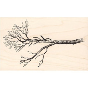 Bare Tree Branch Rubber Stamp