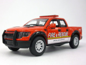 Ford F-150 SVT Raptor Fire Rescue 1/46 Scale Diecast Metal Model - RED