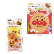LEC Anpanman Baby Picnic Snack Cup and 3 Meal Containers Set (2 items) Anpanman