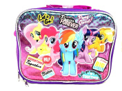 "Hasbro My Little Pony Girls"" Better Forever "" Canvas Pink & Purple Insulated Lunch Bag"