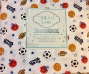 Dream Space 4 Piece Full Sheet Set, Sport Balls