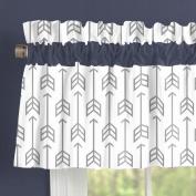 Carousel Designs Cloud Grey Arrow Window Valance Rod Pocket
