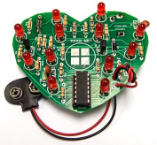 Emotional Heart Soldering Kit (Beginner Level) by Electronix Express