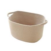 16.9x 9.20cm x 21cm ,Cotton Rope Woven Storage Basket with Handles Clothes Hamper Nursery Toys Bins Closet Organisation