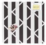 Black and White Stripe Fabric Memory/Memo Photo Bulletin Board for Paris Collection