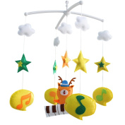 Baby Boy & Girl Bedding Rattle Toy, [Forest Musician] Baby Gift