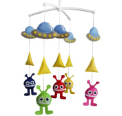 Baby Toy, Infant Musical Mobile [Spaceship and Monster], Bed Bell