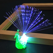 Zehui Finger Night Lights Kids Luminous Toy Led Lamp Flash Colourful Peacock Optical Fibre