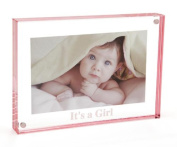 "Canetti LC505R-G 13cm x 18cm ""It's A Girl!"" Magnet Frame - Rose"