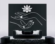 Wall Sticker Decals Room Design Decor Art Pattern Nail Spa Salon Lotus Hands Manicure Beauty mi769