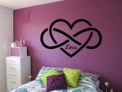 Wall Vinyl Sticker Decals Mural Room Design Decor Art Pattern Infinity Sign Love Heart Romantic mi723