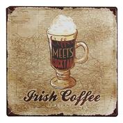 KISSMYTWINS Coffee Tin Sign Vintage Metal Plaque Poster Bar Pub Home Wall Decor