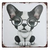 KISSMYTWINS Dog Tin Sign Vintage Metal Plaque Poster Bar Pub Home Wall Decor