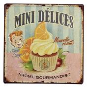 KISSMYTWINS Cake Tin Sign Vintage Metal Plaque Poster Bar Pub Home Wall Decor