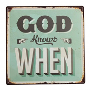 KISSMYTWINS God Knows Tin Sign Vintage Metal Plaque Poster Bar Pub Home Wall Decor
