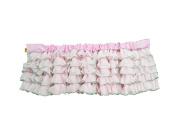 Baby Doll Bedding Layered Window Valance, Pink/Grey