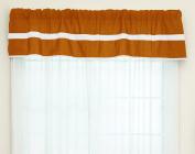 Baby Doll Bedding Solid Stripe Window Valance, Orange/White